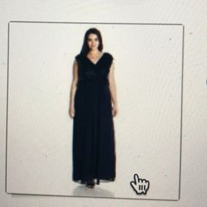 Sangria Womens Plus Size Evening Gown
